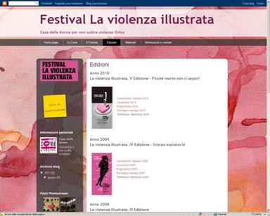 Settembre 2011: E' nato il blog del Festival della violenza illustrata