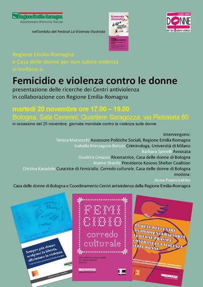 20/11/2012: Bologna: Femicidio e violenza alle donne