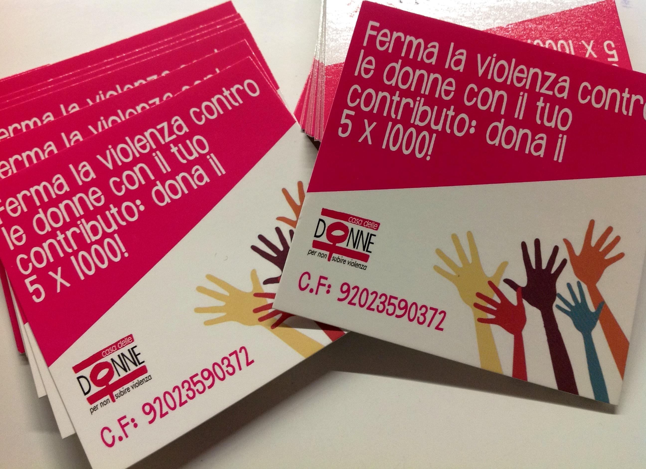 1045 volte grazie per il 5 per mille donato alla Casa delle donne di Bologna