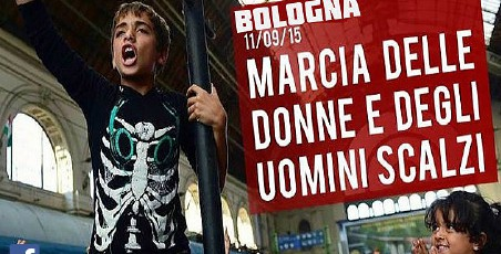 Marcia delle donne e degli uomini scalzi Bologna