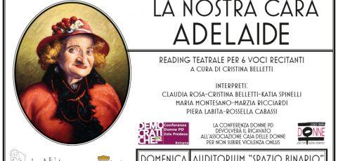 "La Compagnia ""Le Instabili"" presenta ""La Nostra Cara Adelaide"""