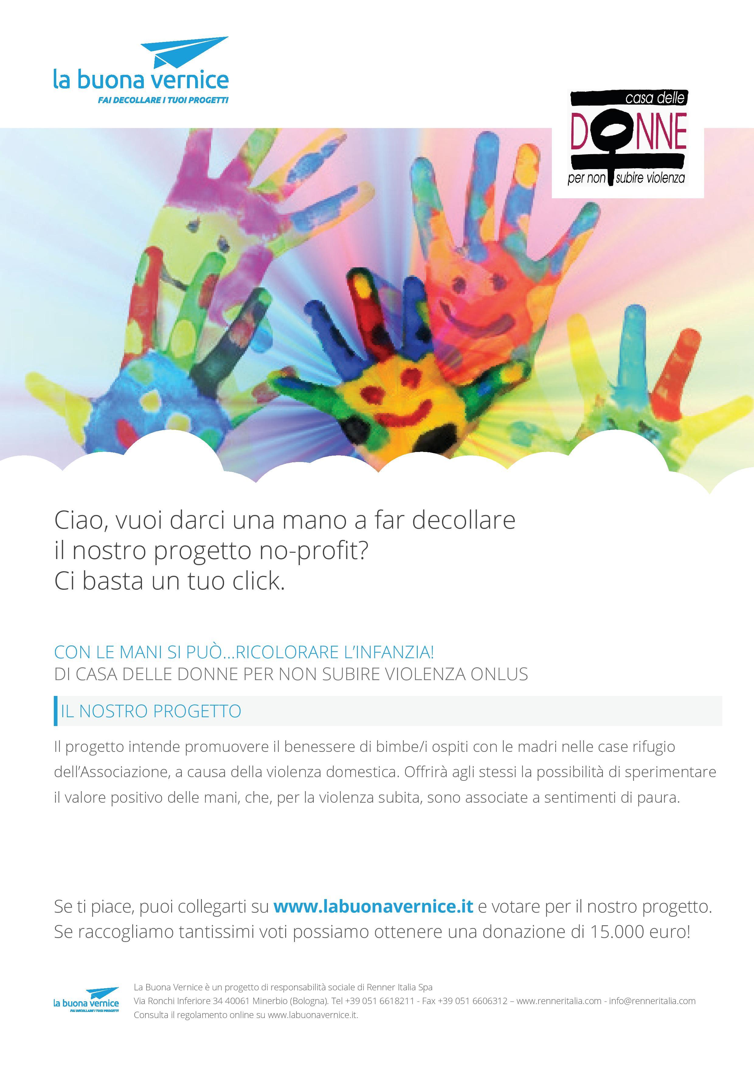 Con le mani si può ricolorare l'infanzia – sostieni il progetto con un click!