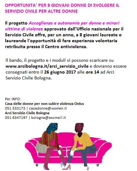 Servizio Civile volontario femminile 2017