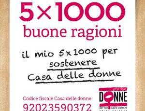 5 per 1000 per sostenere Casa delle donne!