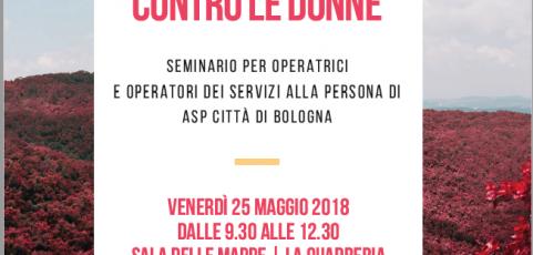 25 maggio: Lotta alla violenza contro le donne. Seminario per operatrici e operatori di Asp Città di Bologna